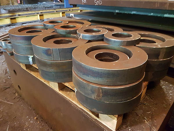 90mm thick steel rings